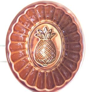 Boho ceramic brown glazed pineapple mold